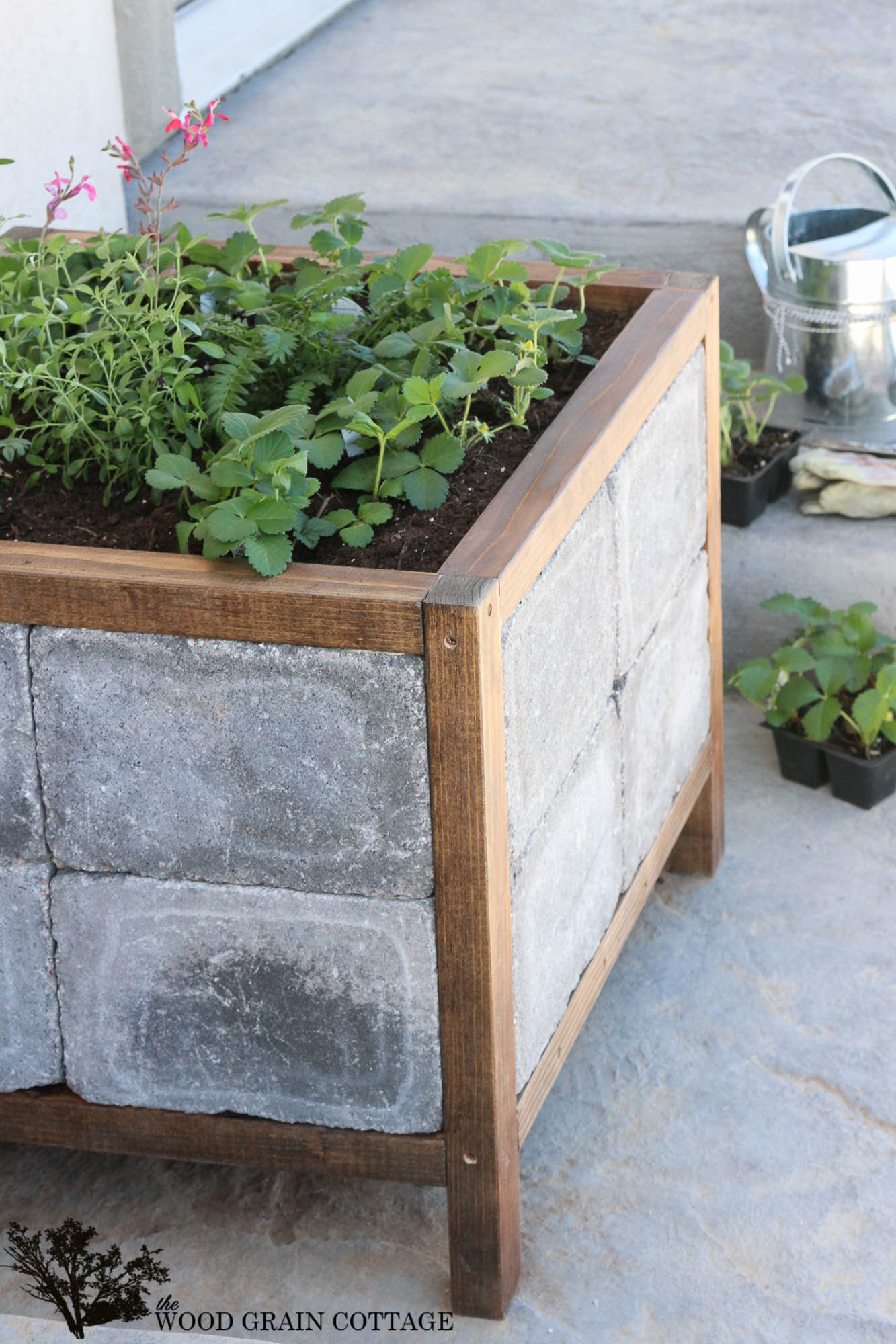 Best ideas about DIY Wood Planter . Save or Pin DIY Paver Planter The Wood Grain Cottage Now.