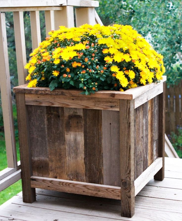 Best ideas about DIY Wood Planter . Save or Pin Homemade Wood Planters WoodWorking Projects & Plans Now.