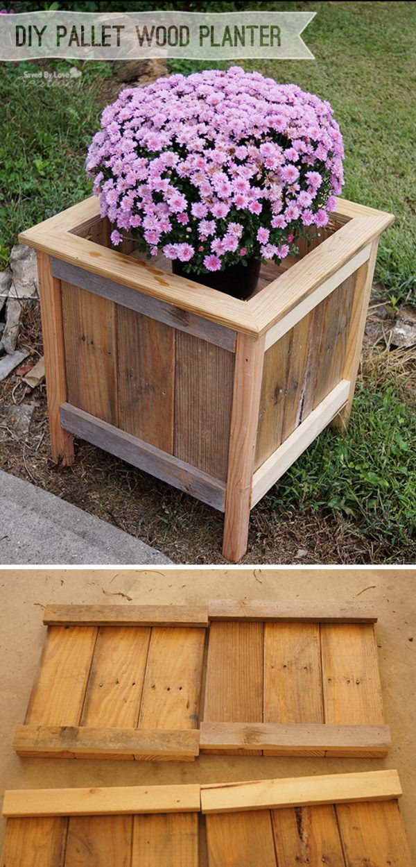 Best ideas about DIY Wood Planter . Save or Pin 15 DIY Garden Planter Ideas Using Wood Pallets Hative Now.