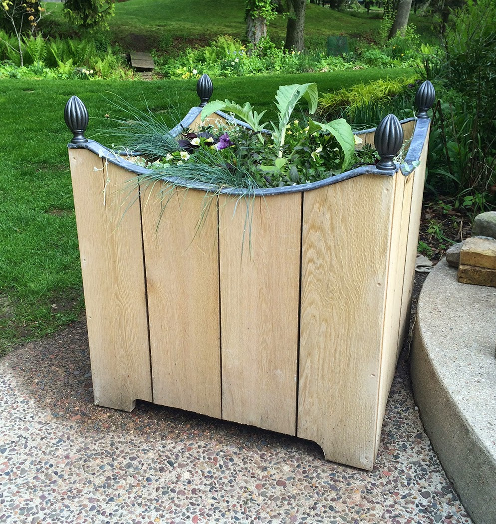 Best ideas about DIY Wood Planter . Save or Pin The Impatient Gardener DIY WOODEN PLANTER WITH LEAD TRIM Now.
