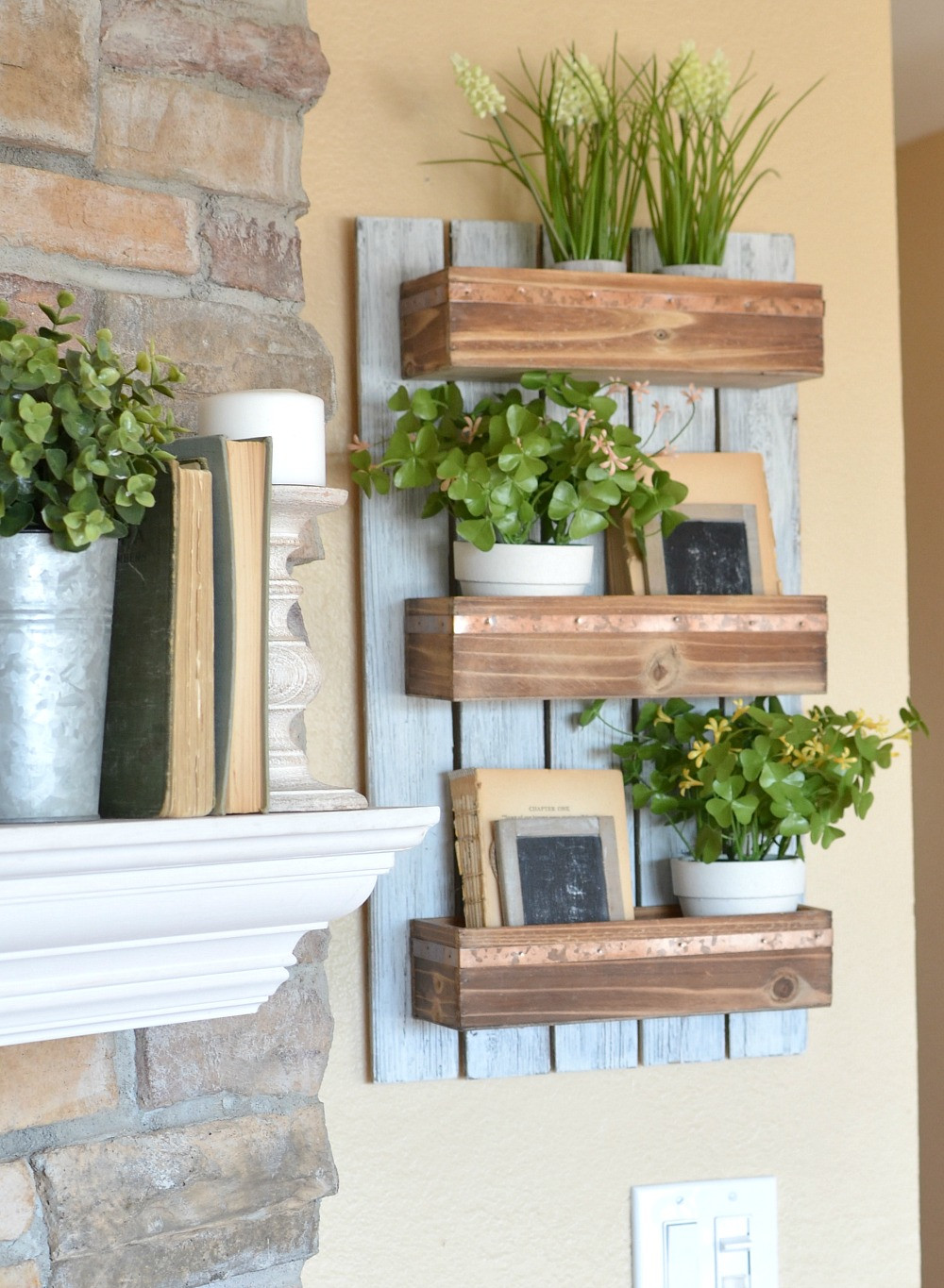 Best ideas about DIY Wood Planter . Save or Pin DIY Wooden Wall Planter Little Vintage Nest Now.