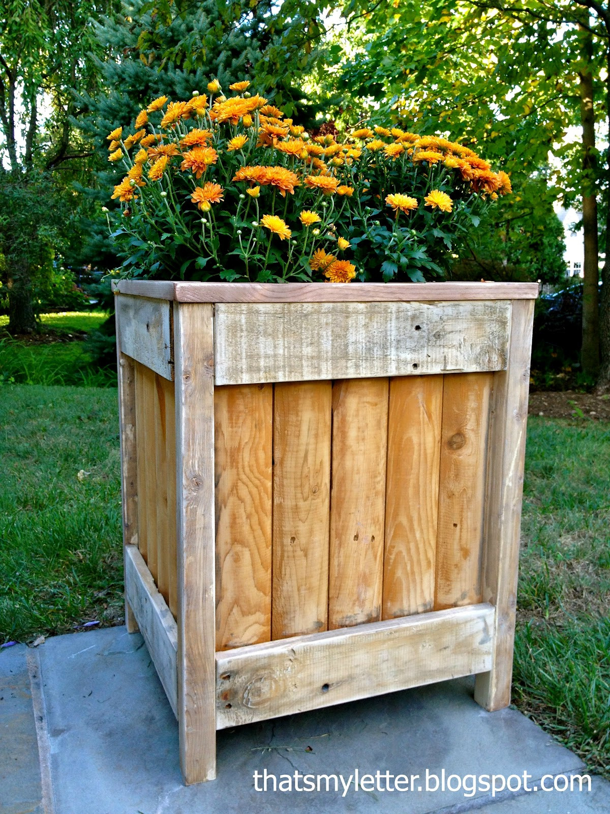 Best ideas about DIY Wood Planter . Save or Pin That s My Letter DIY Outdoor Planter Now.