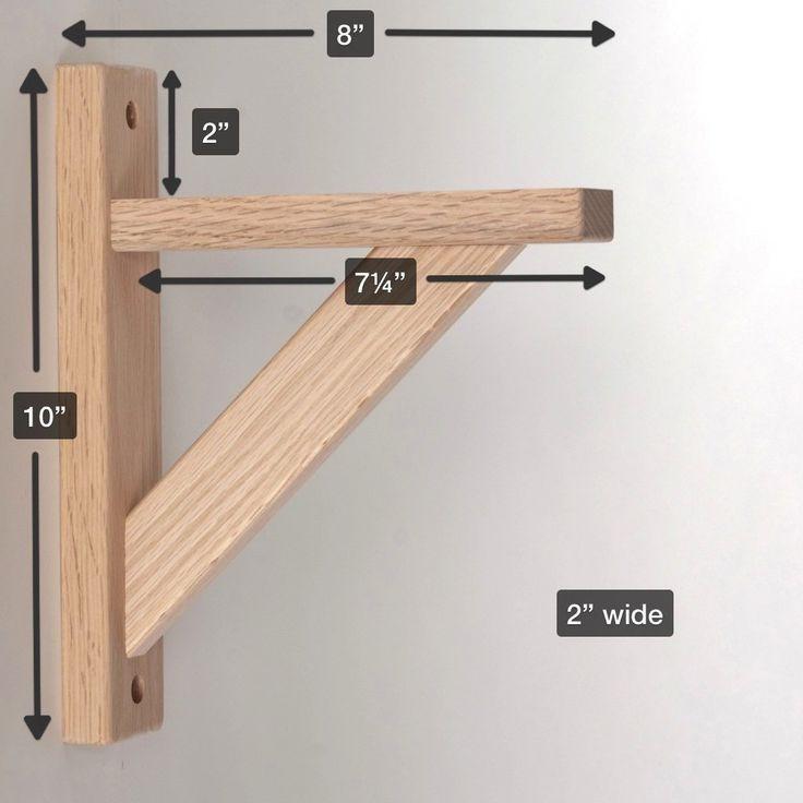 Best ideas about DIY Wood Shelf Bracket . Save or Pin 52 best Shelf Brackets images on Pinterest Now.