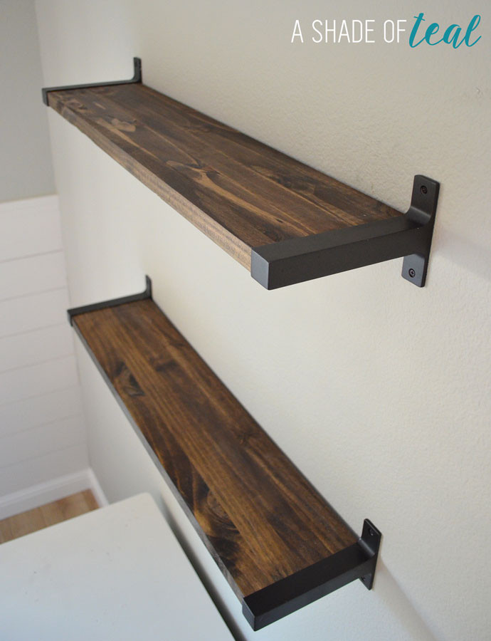 Best ideas about DIY Wood Shelf Bracket . Save or Pin Rustic DIY Bookshelf with IKEA Ekby Brackets Now.