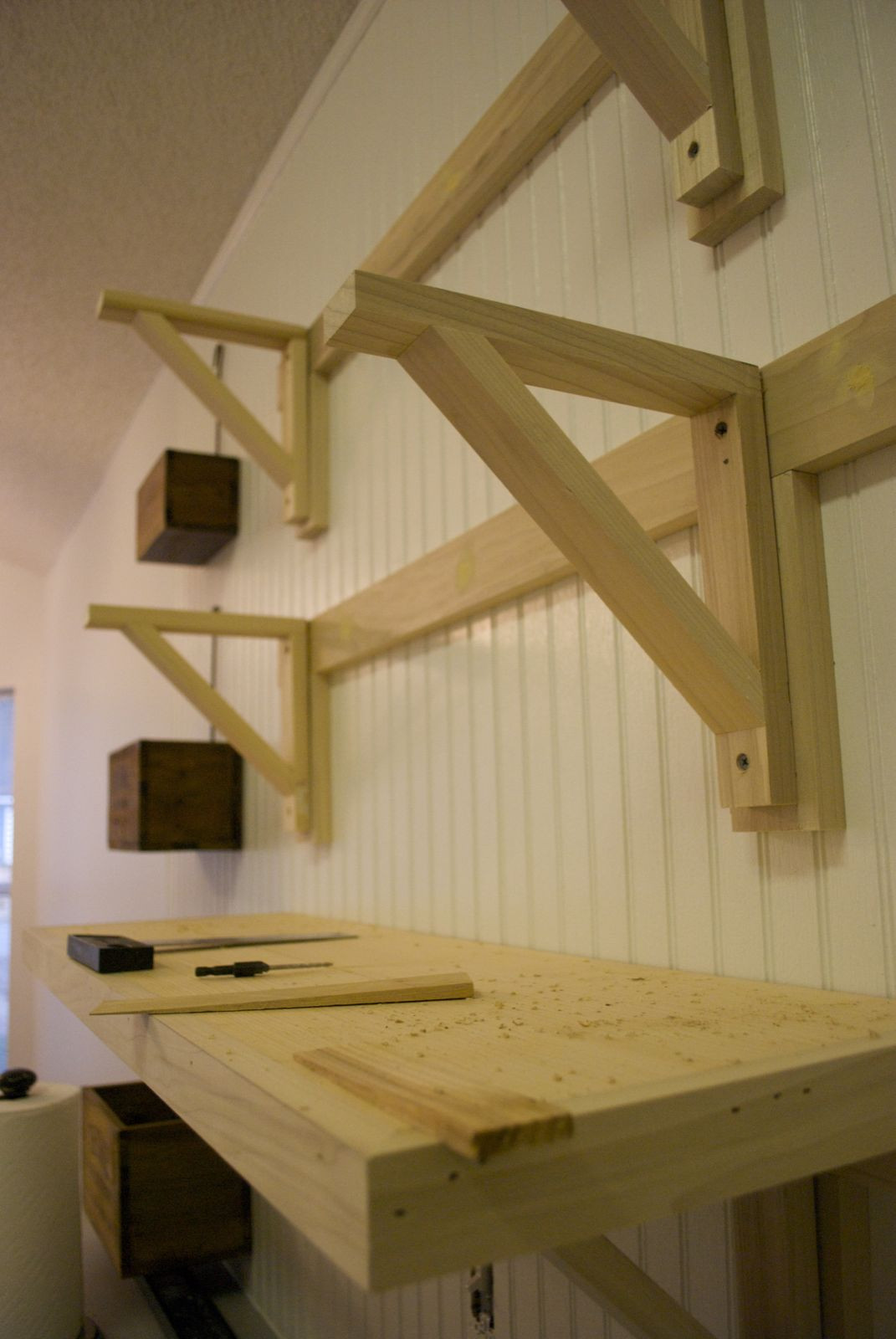 Best ideas about DIY Wood Shelf Bracket . Save or Pin Shelf brackets Shelves and DIY and crafts on Pinterest Now.