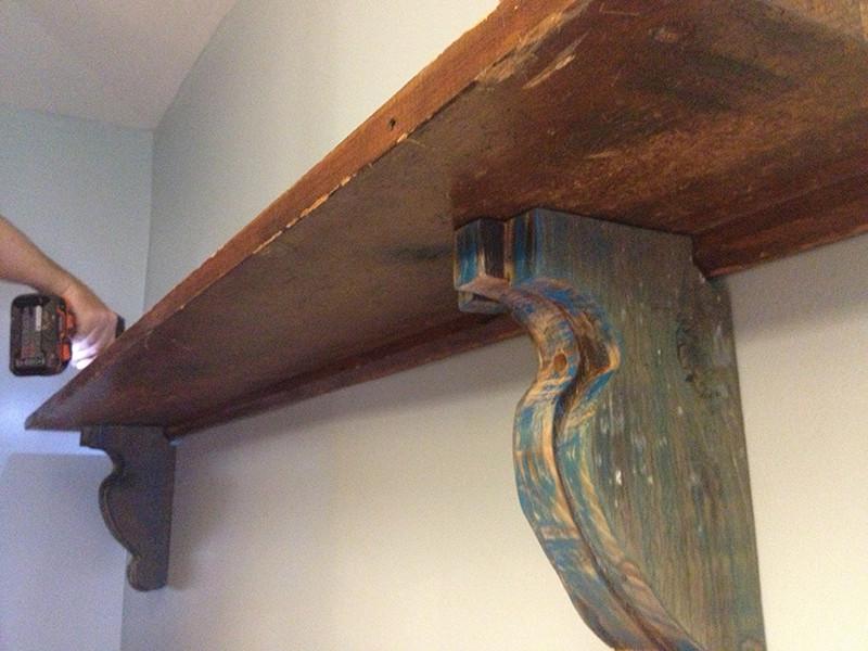Best ideas about DIY Wood Shelf Bracket . Save or Pin Easy DIY Shelf Brackets & Wood Shelf crafted from Now.