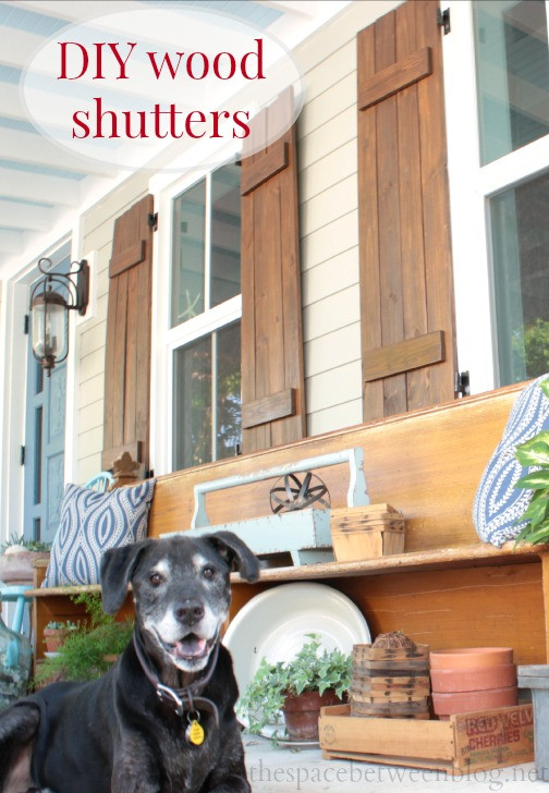 Best ideas about DIY Wood Shutters . Save or Pin DIY wood shutters and a day I never really ever imagined Now.