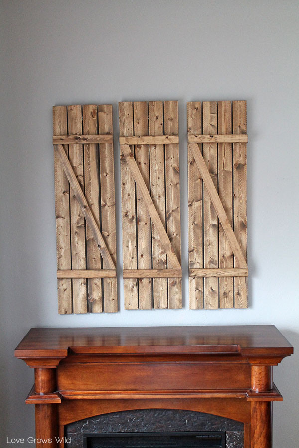 Best ideas about DIY Wood Shutters . Save or Pin DIY Barn Wood Shutters Love Grows Wild Now.