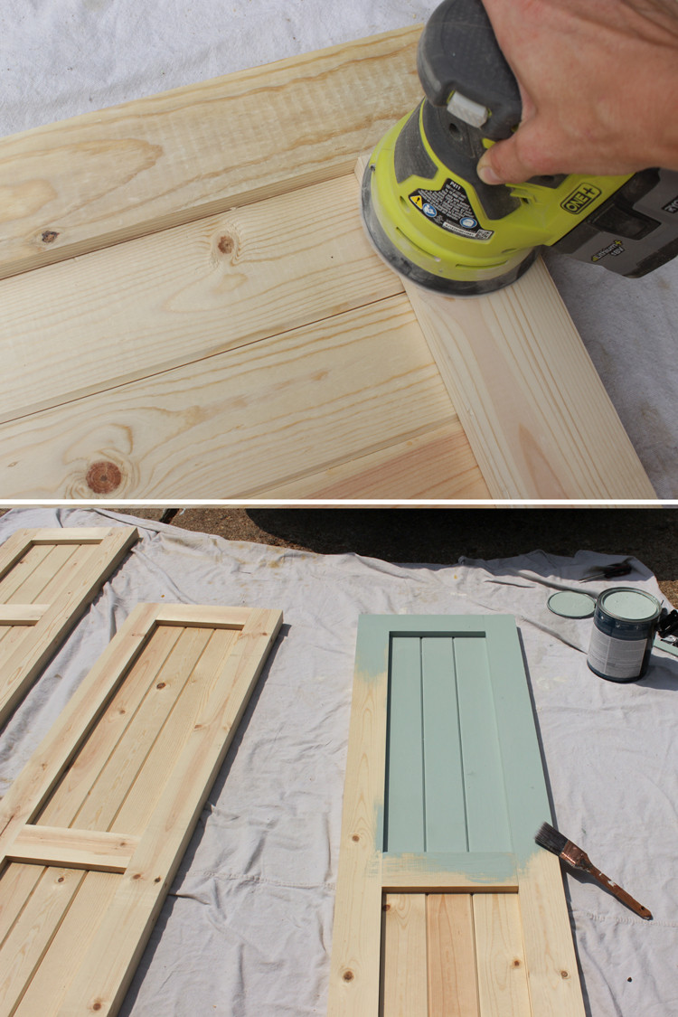Best ideas about DIY Wood Shutters . Save or Pin DIY Craftsman Exterior Shutters Now.