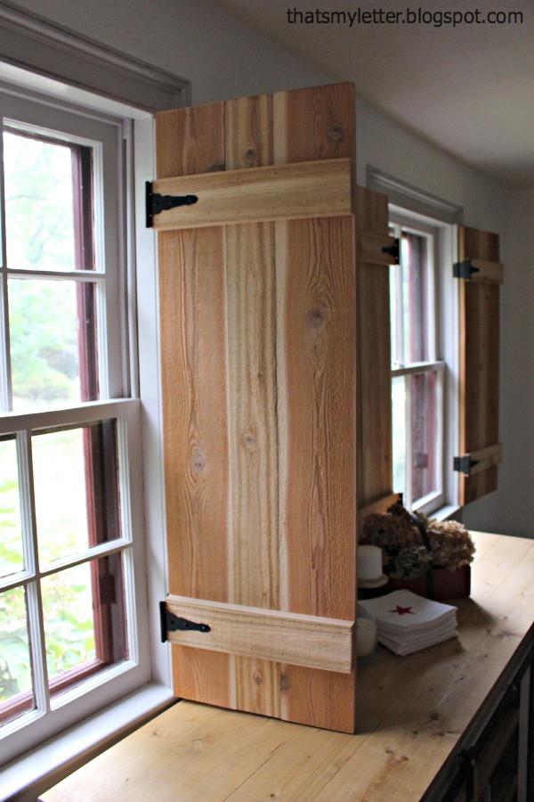 Best ideas about DIY Wood Shutters . Save or Pin DIY Interior Cedar Shutters Pretty Handy Girl Now.