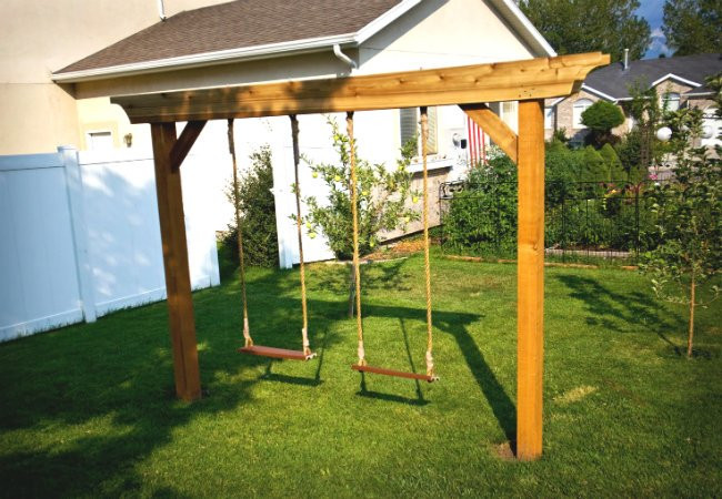Best ideas about DIY Wood Swing Set Plans . Save or Pin DIY Swing Set 5 Ways to Make Your Own Bob Vila Now.