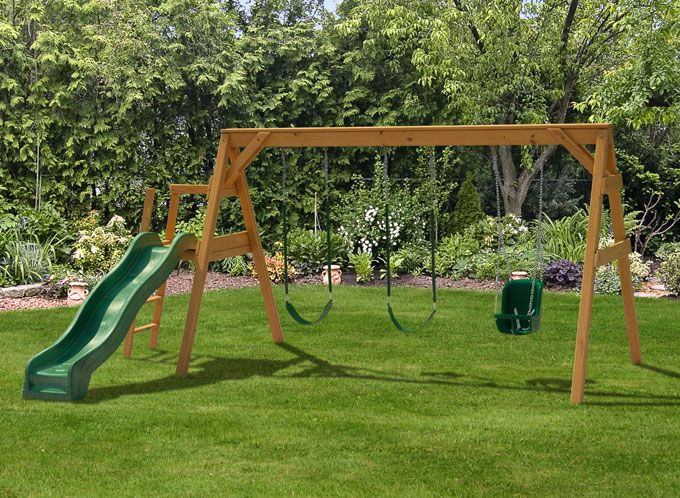 Best ideas about DIY Wood Swing Set Plans . Save or Pin Steel swing set plans Now.