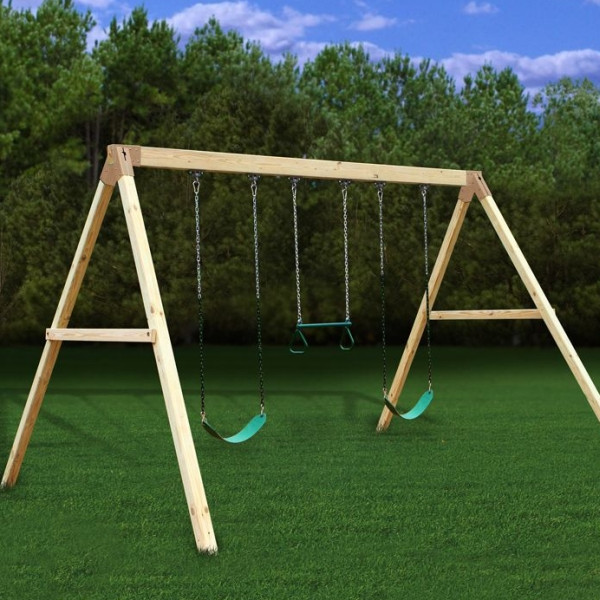 Best ideas about DIY Wood Swing Set Plans . Save or Pin Settler A Frame Swing Beam Kit Freetstanding EASY DIY Now.