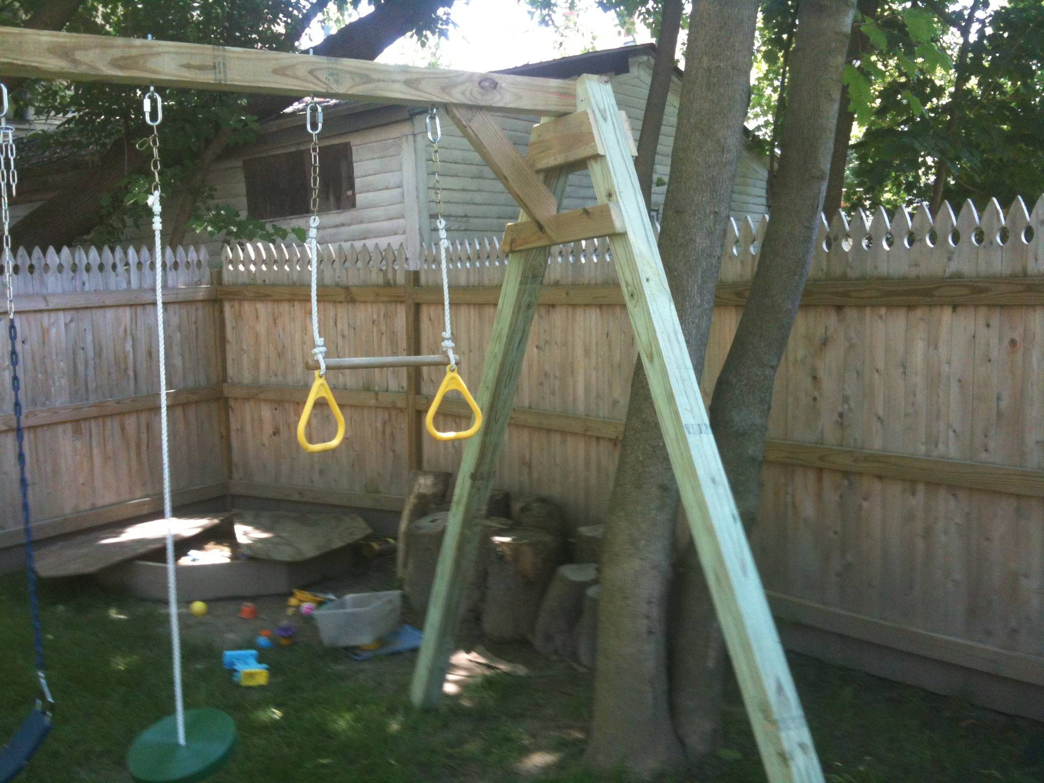 Best ideas about DIY Wood Swing Set Plans . Save or Pin woodworking Plans for building a simple swing set out of Now.