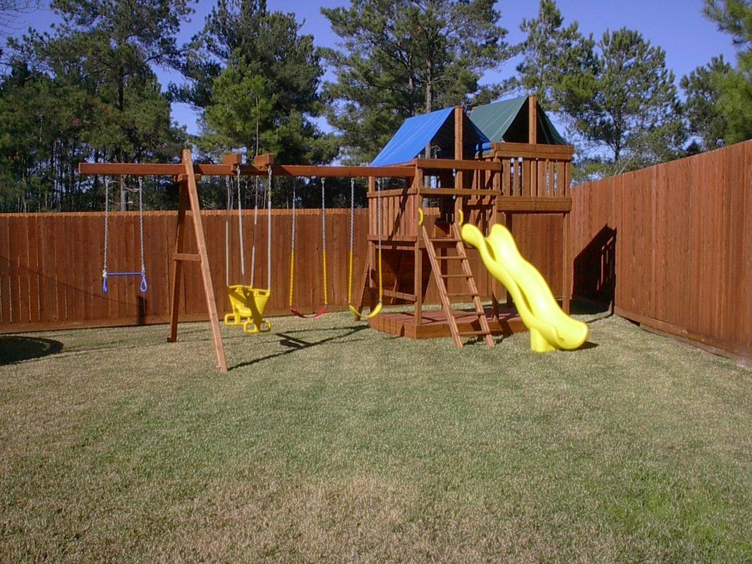 Best ideas about DIY Wood Swing Set Plans . Save or Pin How to Build DIY Wood Fort and Swing Set Plans From Jack s Now.