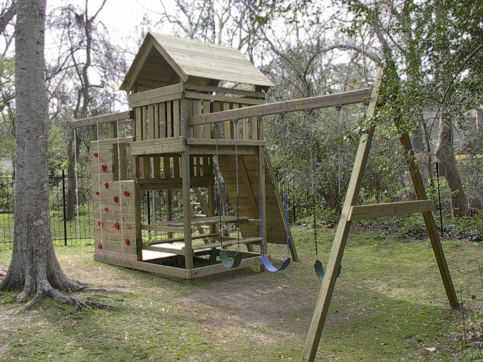 Best ideas about DIY Wood Swing Set Plans . Save or Pin Gemini Playset DIY Wood Fort and Swingset Plans Now.