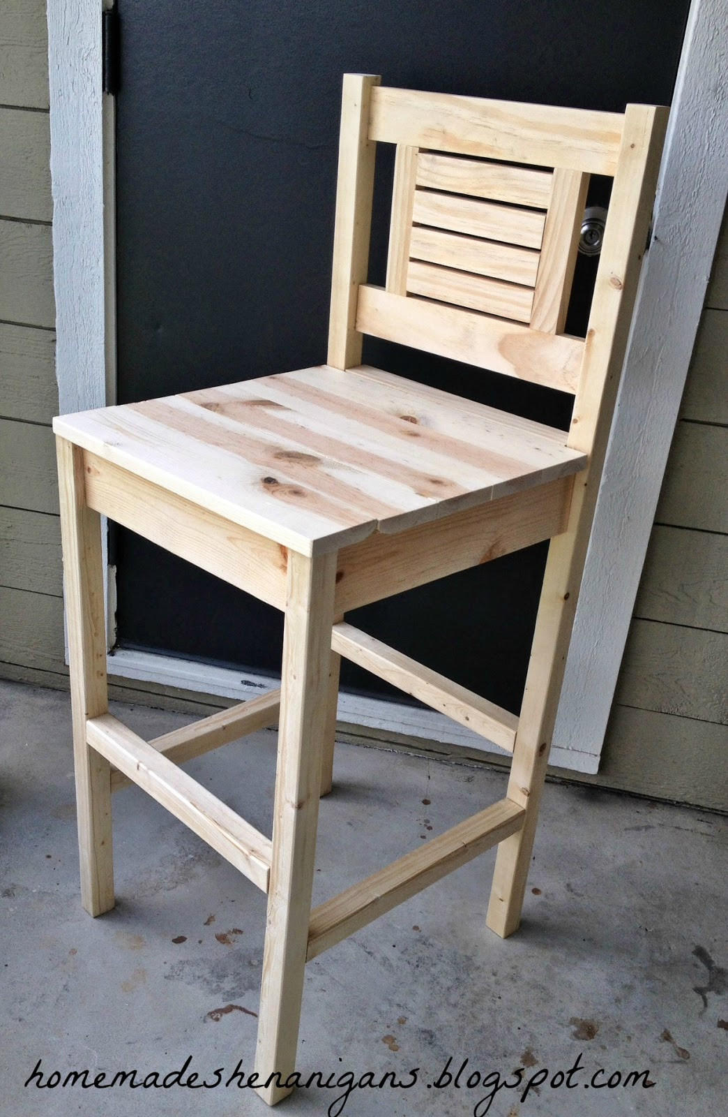 Best ideas about DIY Wooden Bar Stools . Save or Pin Homemade Shenanigans DIY Bar Stool Now.
