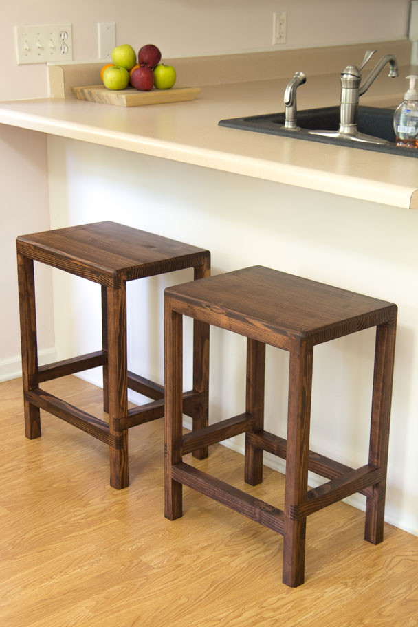 Best ideas about DIY Wooden Bar Stools . Save or Pin How To Make A Half Lap Bar Stool From 2x4s Now.