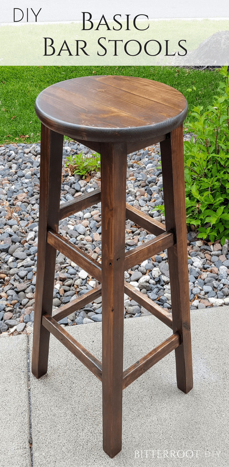 Best ideas about DIY Wooden Bar Stools . Save or Pin DIY Basic Bar Stools Now.