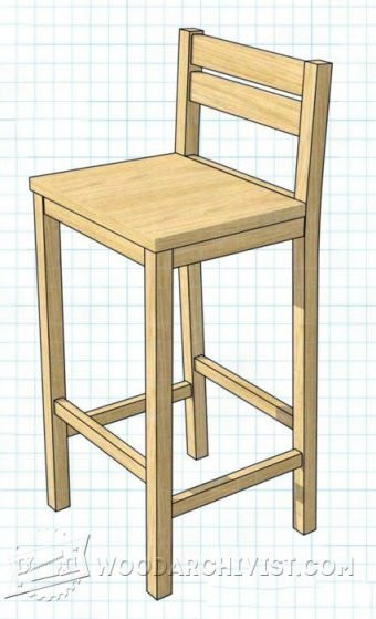 Best ideas about DIY Wooden Bar Stools . Save or Pin DIY Bar Stool • WoodArchivist Now.