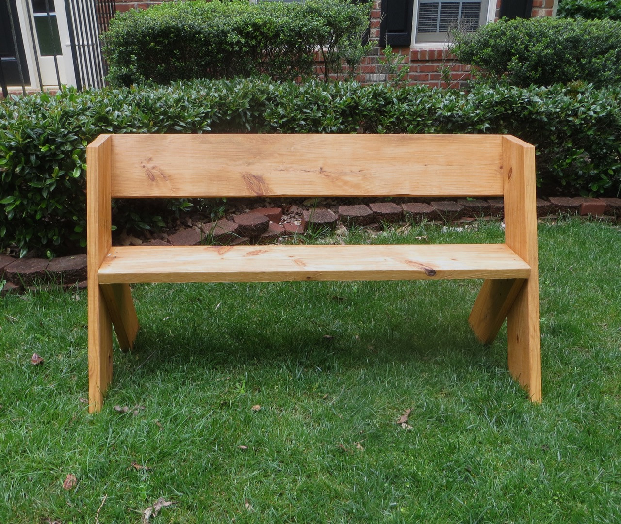 Best ideas about DIY Wooden Bench . Save or Pin DIY Tutorial $16 Simple Outdoor Wood Bench Now.