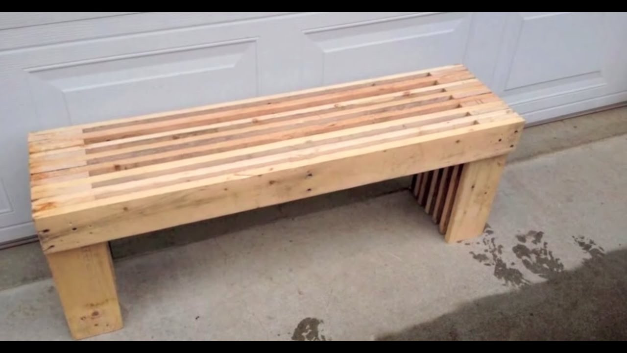 Best ideas about DIY Wooden Bench . Save or Pin Pallet Bench DIY Now.