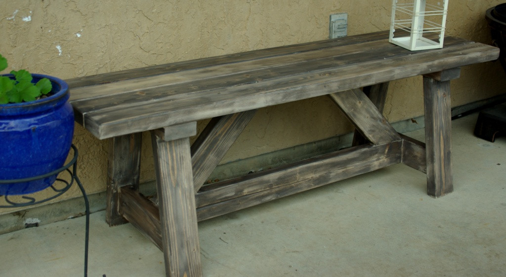 Best ideas about DIY Wooden Bench . Save or Pin Rustic Wooden Stone Garden Benches Now.