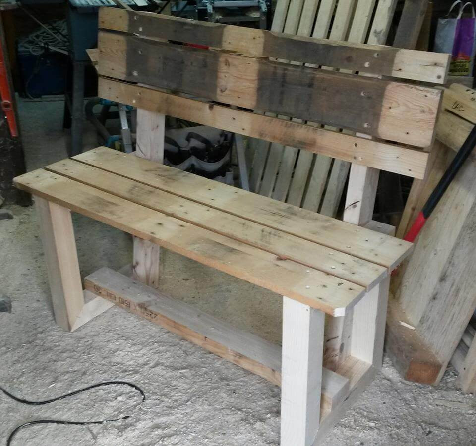 Best ideas about DIY Wooden Bench . Save or Pin Rustic Inspired Wooden Pallet Bench Now.