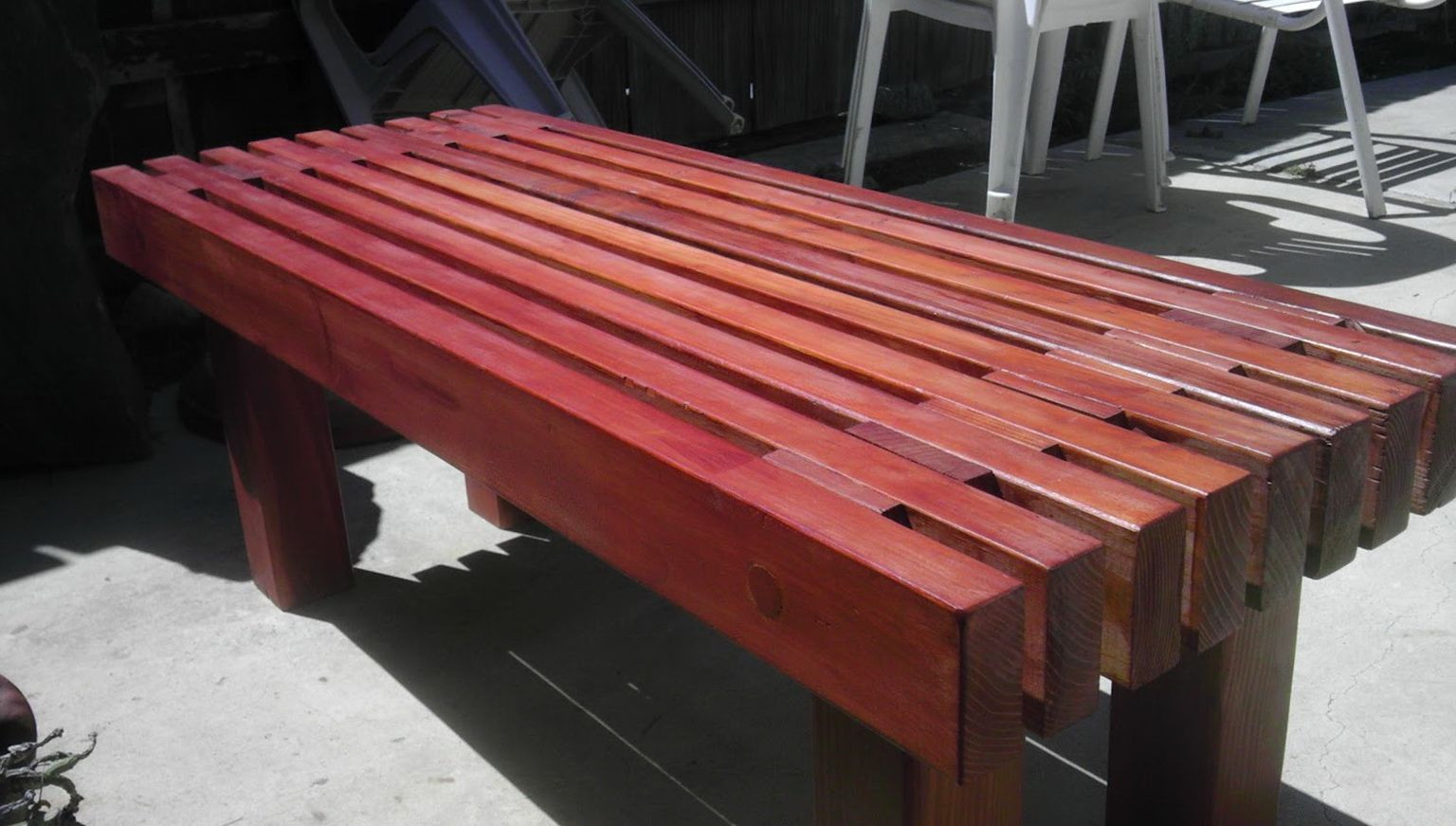 Best ideas about DIY Wooden Bench . Save or Pin Modern Outdoor Bench Design Diy Wooden Garden Bench Ign Now.