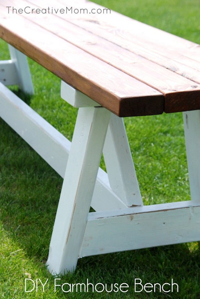 Best ideas about DIY Wooden Bench . Save or Pin DIY Farmhouse Bench Bob Vila Now.