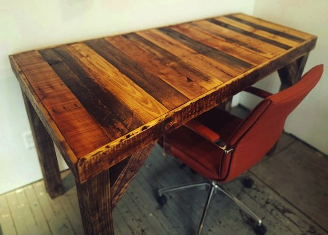 Best ideas about DIY Wooden Desks . Save or Pin DIY Pallet Desk Bob Vila Thumbs Up Bob Vila Now.