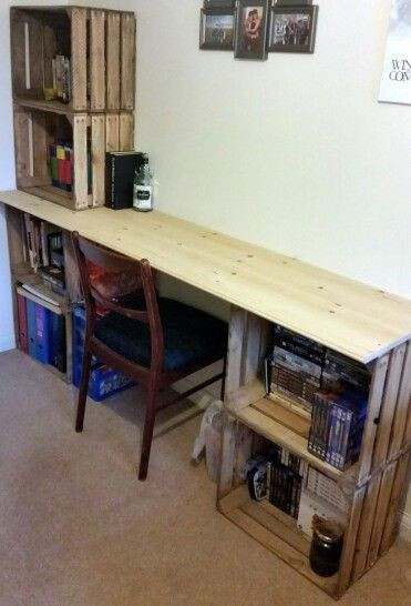 Best ideas about DIY Wooden Desks . Save or Pin Best 25 Crate desk ideas on Pinterest Now.