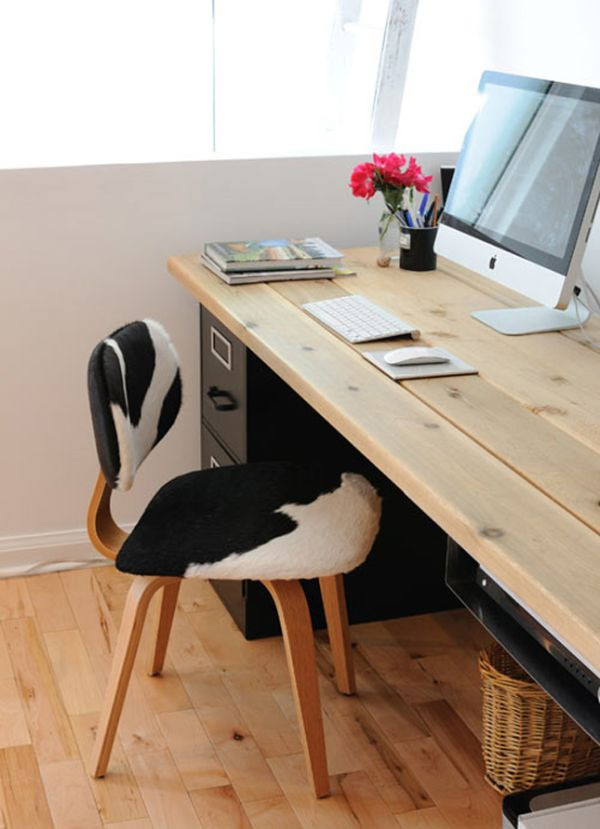 Best ideas about DIY Wooden Desks . Save or Pin 20 DIY Desks That Really Work For Your Home fice Now.