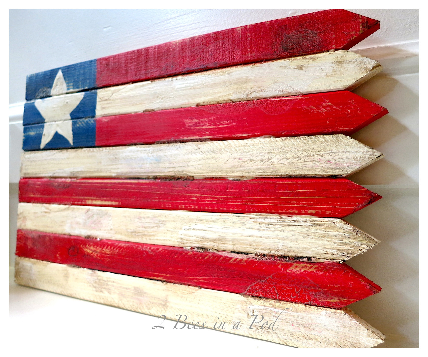 Best ideas about DIY Wooden Flag . Save or Pin DIY Wooden American Flag 2 Bees in a Pod Now.