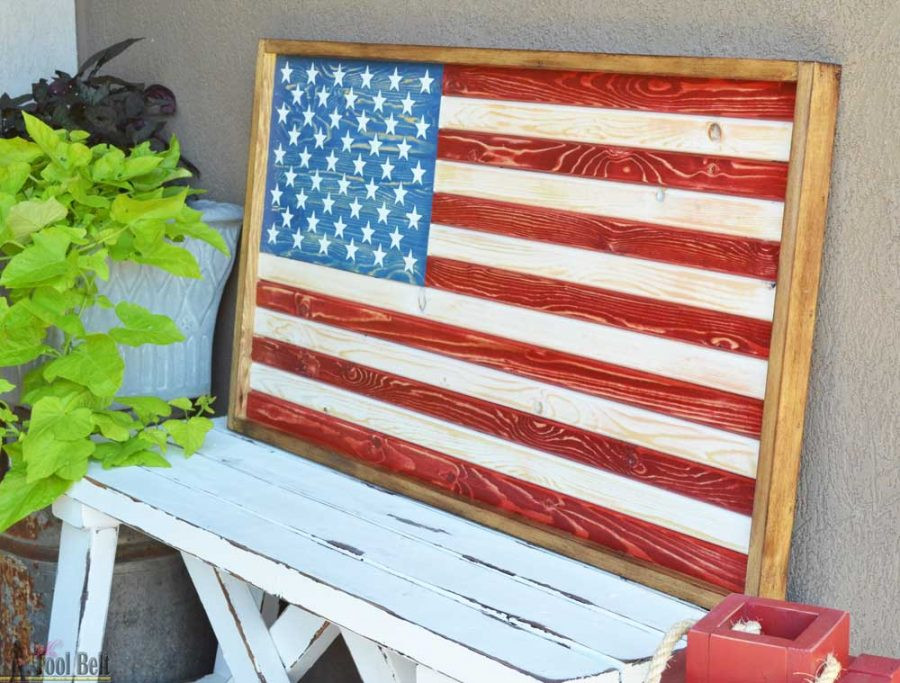 Best ideas about DIY Wooden Flag . Save or Pin DIY Patriotic Wood Flag Her Tool Belt Now.