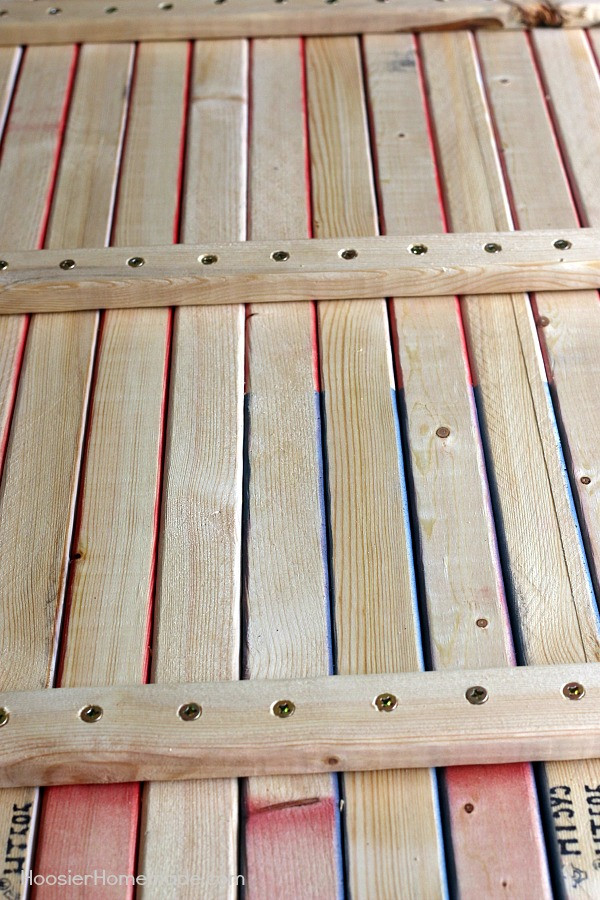 Best ideas about DIY Wooden Flag . Save or Pin How to Make a Wooden Flag Hoosier Homemade Now.