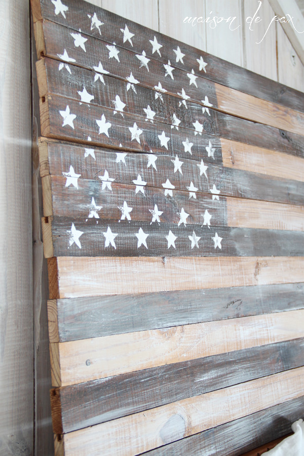 Best ideas about DIY Wooden Flag . Save or Pin DIY Planked American Flag Maison de Pax Now.