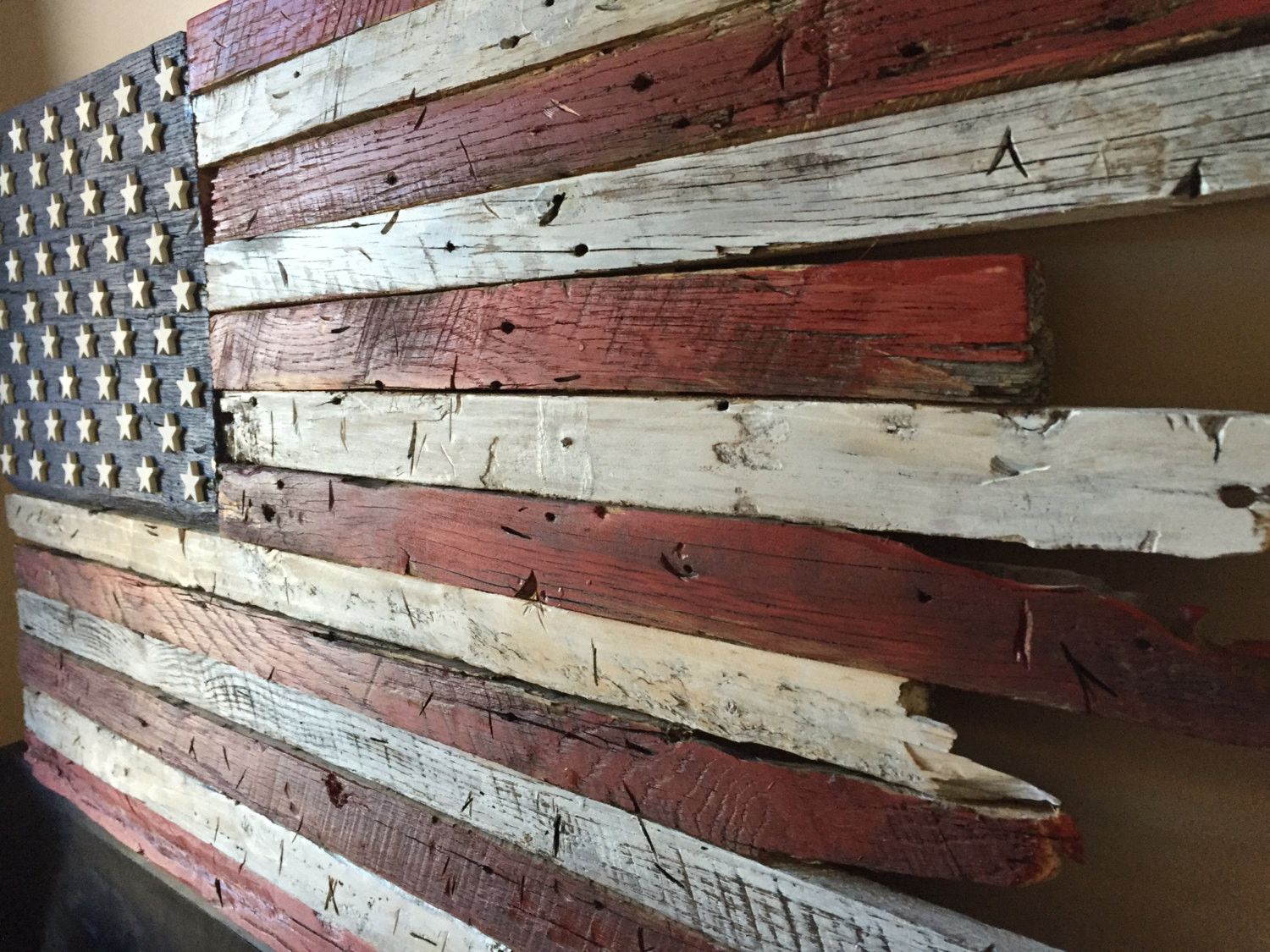 Best ideas about DIY Wooden Flag . Save or Pin Wooden flag Barn wood wood flag Rustic wood flag American Now.