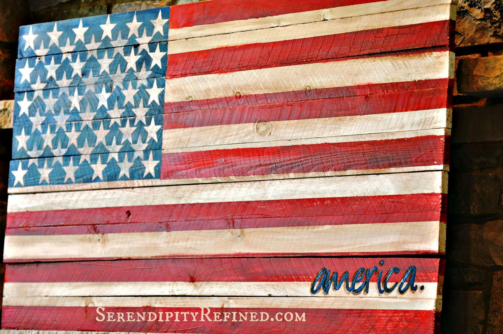 Best ideas about DIY Wooden Flag . Save or Pin Serendipity Refined Blog Pallet Wood Fence Board American Now.