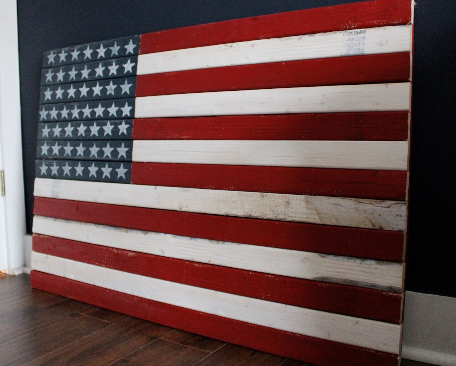 Best ideas about DIY Wooden Flag . Save or Pin The Yellow Cape Cod How To Make A DIY Rustic American Flag Now.