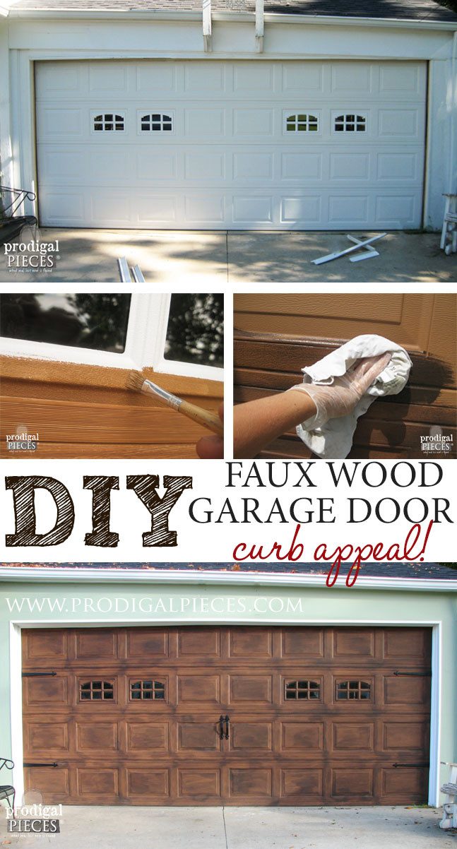 Best ideas about DIY Wooden Garage Doors . Save or Pin Faux Wood Garage Door Tutorial Prodigal Pieces Now.