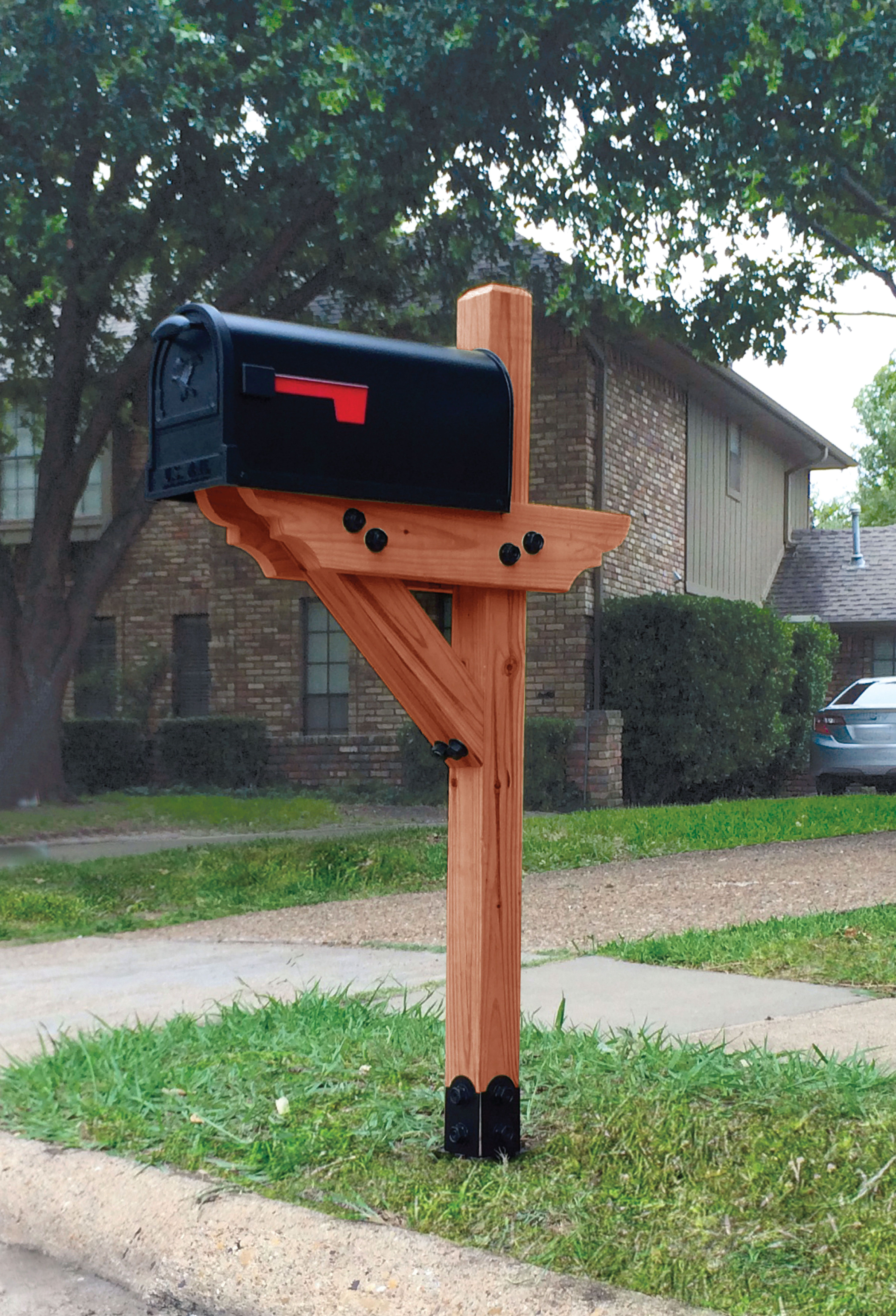 Best ideas about DIY Wooden Mailbox . Save or Pin Dress your mailbox up in style with this wood mailbox post Now.