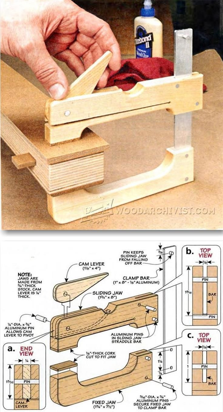 Best ideas about DIY Woodworking Clamps . Save or Pin 293 best Home made tools and jigs images on Pinterest Now.