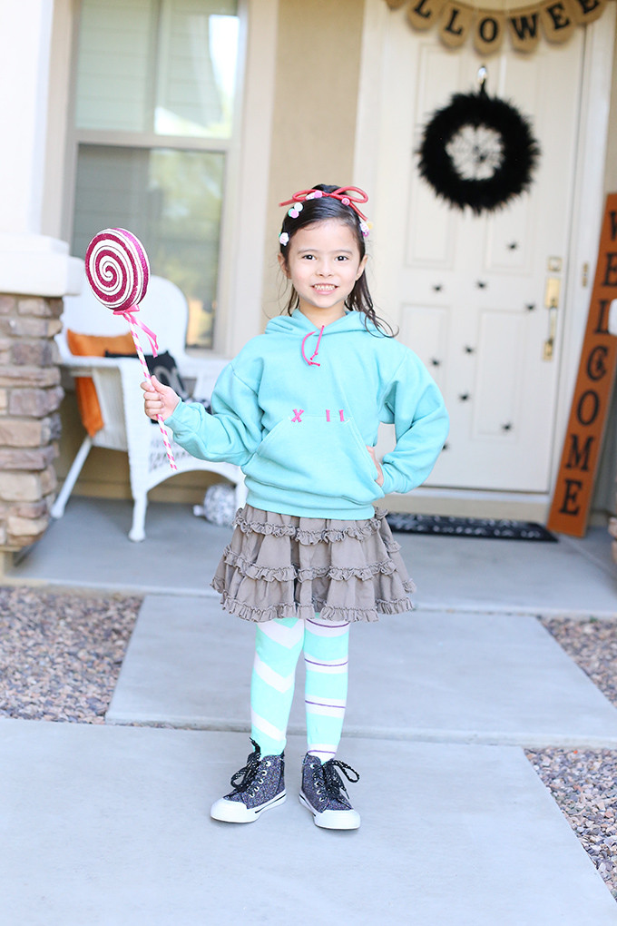 Best ideas about DIY Wreck It Ralph Costume . Save or Pin Halloween DIY Vanellope Costume from Disney Wreck It Now.