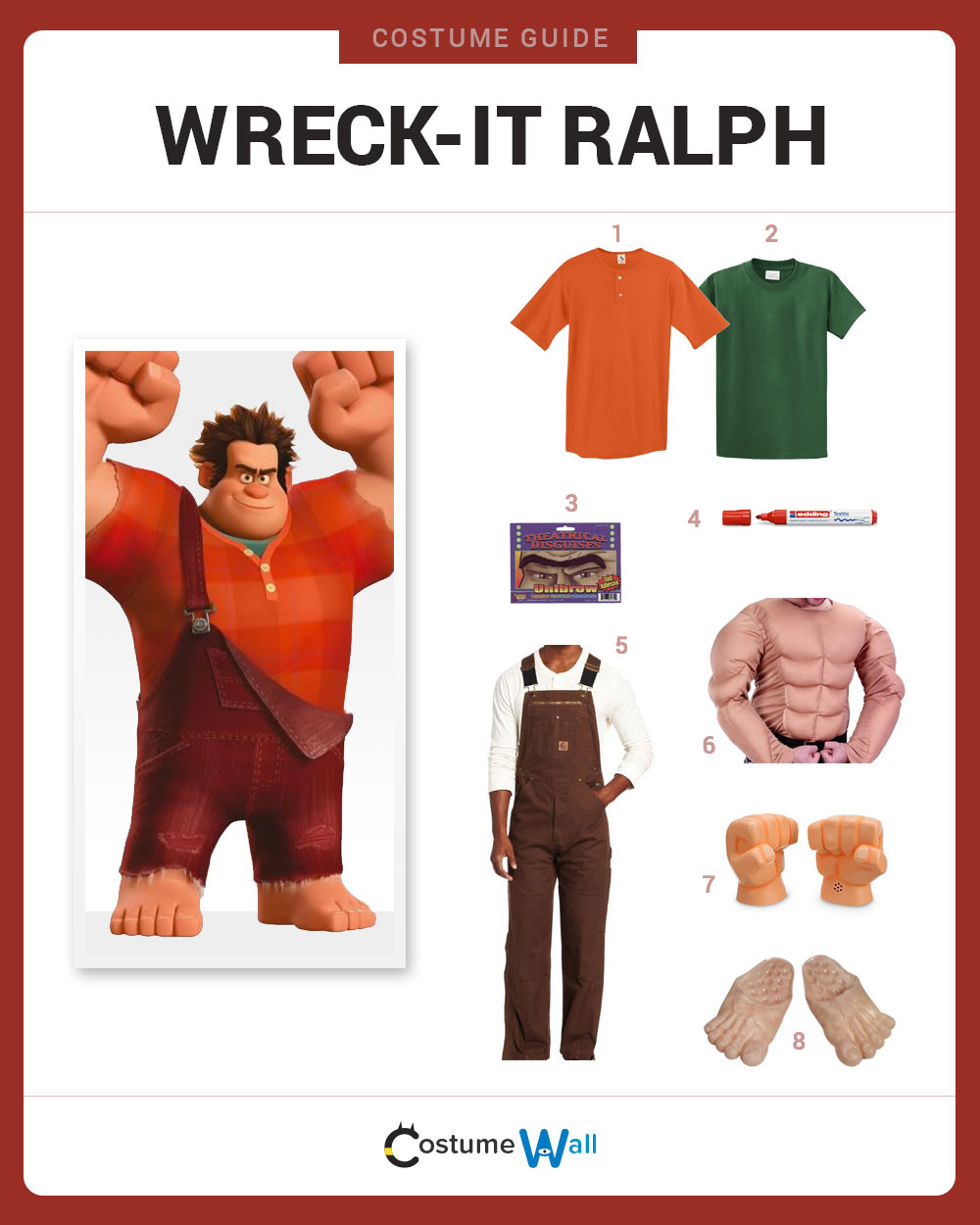 Best ideas about DIY Wreck It Ralph Costume . Save or Pin Dress Like Wreck It Ralph Costume DIY Outfit Now.