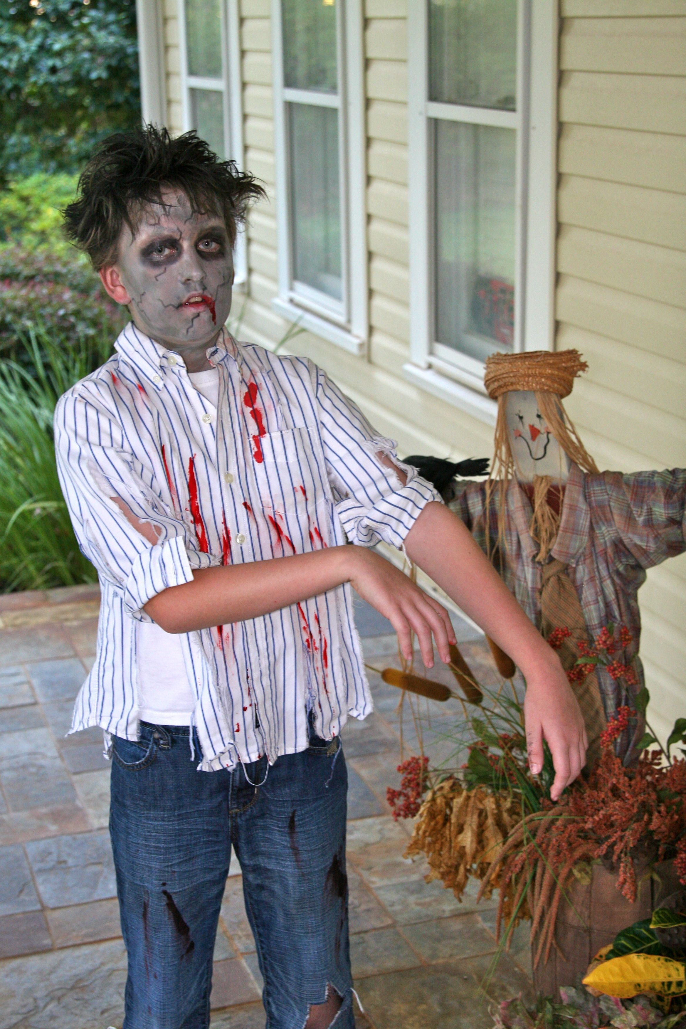 Best ideas about DIY Zombie Costume For Kids . Save or Pin zombie costume Halloween haunting ideas Now.