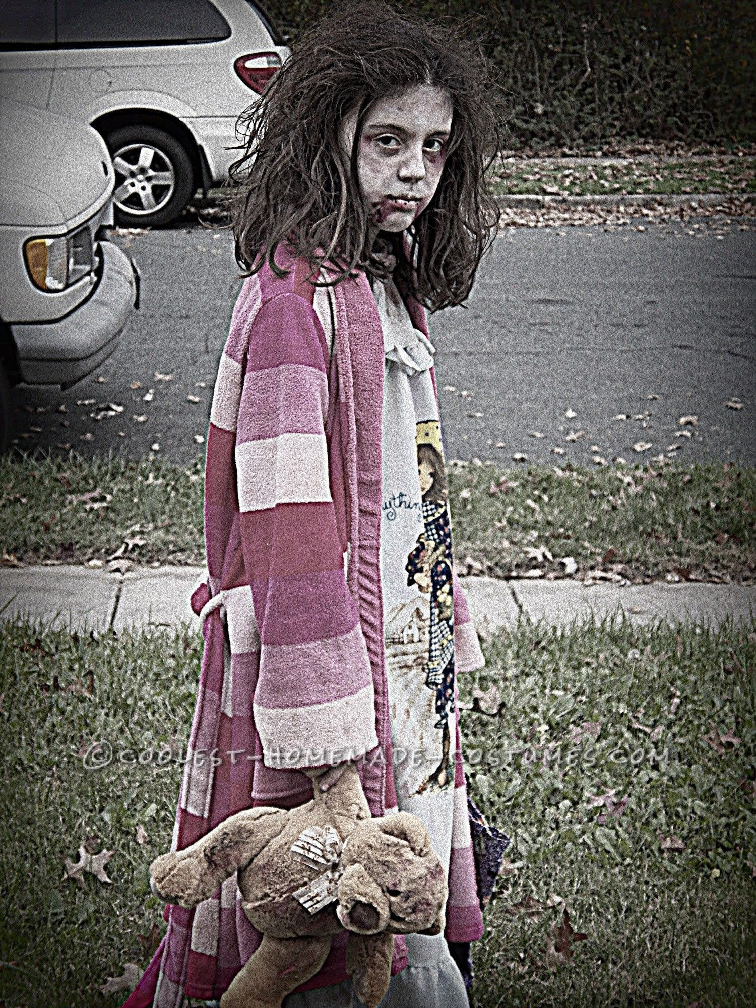 Best ideas about DIY Zombie Costume For Kids . Save or Pin Scary Homemade Costume for a Girl Little Zombie Girl Now.