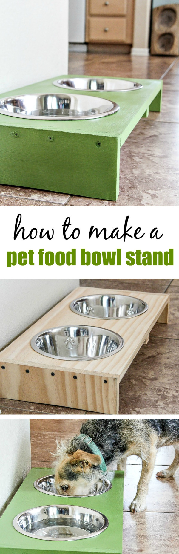 Best ideas about Dog Bowl Stand DIY . Save or Pin DIY 30 Minute Dog Food Bowl Stand Tonya Staab Now.
