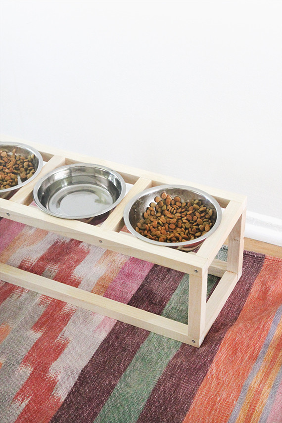Best ideas about Dog Bowl Stand DIY . Save or Pin diy modern pet bowl stand almost makes perfect Now.