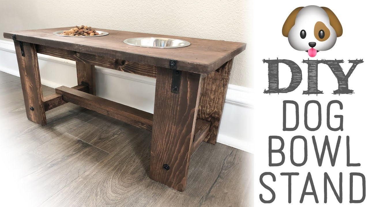 Best ideas about Dog Bowl Stand DIY . Save or Pin DIY Dog Bowl Stand Now.